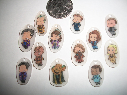 startenthousand:  Babylon 5 stitch markers made by a Rav friend. (not for sale, sadly) I don't even like using stitch markers and I seriously need these.