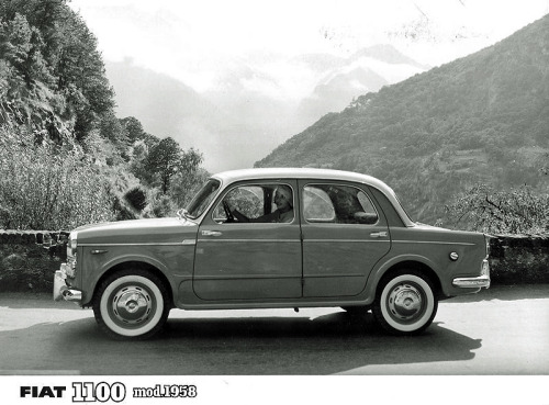 harrysz:  Another great Fiat 1100 picture from 1958. With a female driver.  Fiat 1100 Before there was the Premier Padmini, there was this.