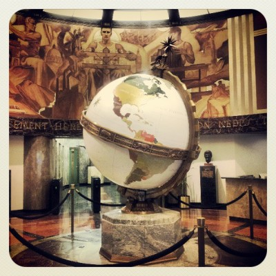 First day at the @latimes calls for a picture of the Globe Lobby (at Los Angeles Times)