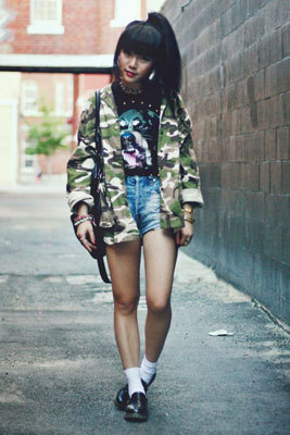 Keep your cool this fall in camo! Click here to see how 10 readers styled the trend»