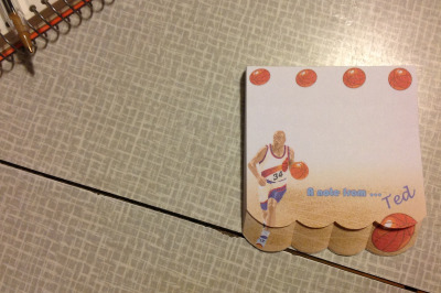 nbacooldudes:  charles barkley notepad i got at a dollar store in lansing, michigan. haven't used any yet because i so rarely write charles barkley-related notes or pretend that my name is ted.
