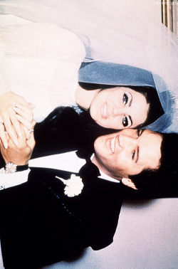 ladypresley:   On this day 46 years ago, Elvis Presley made Priscilla Beaulieu his bride, May 1, 1967.
