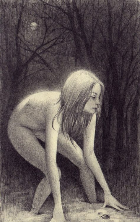 the-eldest-woman-on:  Soey Milk - Forest Noir Graphite on molskine