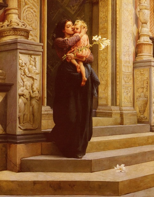 colourthysoul:  Frank William Warwick Topham - The Lily