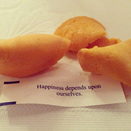 poplipps:  Fortune cookies at Legend..  Very true. Make healthy choices daily to create your own happiness.