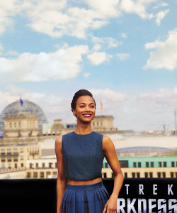 "Zoë Saldaña at the ""Star Trek Into Darkness"" Berlin Photocall (April 28th, 2013)"