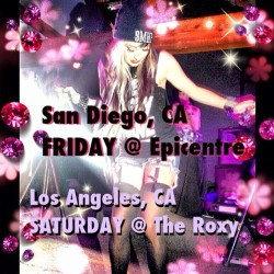 THIS WEEKEND!!! California let's get crazy!!! SAN DIEGO, CA THIS FRIDAY @ EPICENTRE & LOS ANGELES, CA SATURDAY @ THE ROXY 💕🌸💕🌸 #allisongreen #millionaires #tonighttour #sandiego #miramesa #la #losangeles #hollywood #california #melissamarie @themillionaires