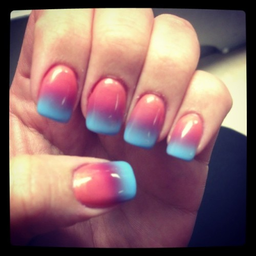 #nails #naildesign #nailart #spring #cute #fadednails