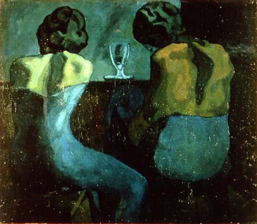 frenchtwist:  via rrrick * blue-voids:  Pablo Picasso - Two Women at a Bar, 1902
