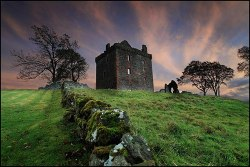 pagewoman:  Balvaird Castle,Scotland.    by Angus Clyne