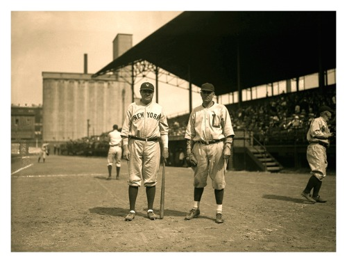 Babe Ruth & Louisville Colonels Player Before the Game Barnstorming In Louisville, KY - June 2, 1924