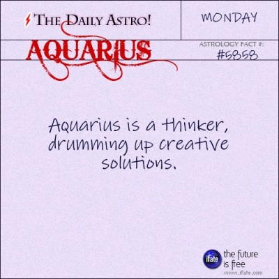 Aquarius 5858: Visit The Daily Astro for more facts about Aquarius...and click here for the web's best horoscopes!
