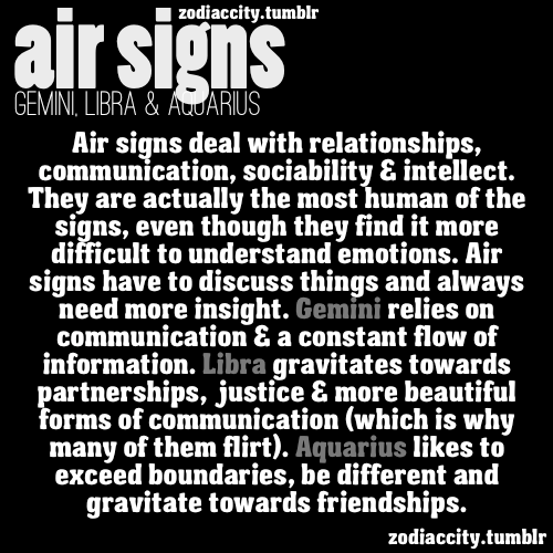What you need to know about AIR SIGNS.