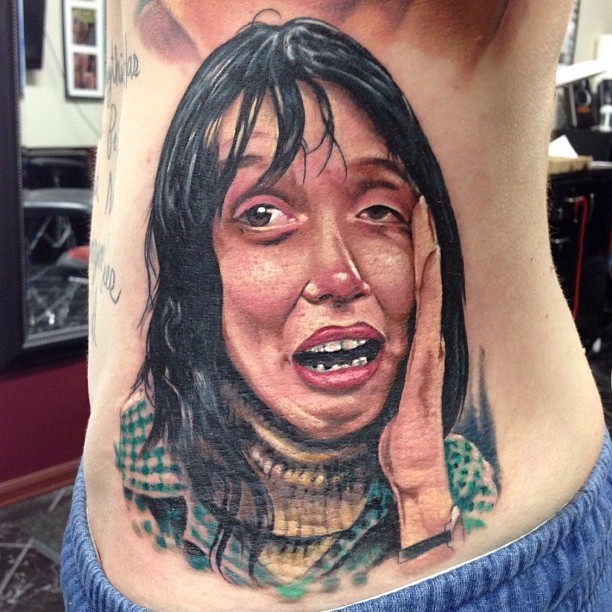 "Wendy from ""The Shining""!! Tattoo by: @kbtat2 !!! Such an awesome dude! Go follow him and check out his work. :) #theshining #stanleykubrick"