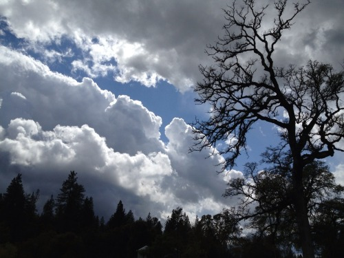 Fast moving weather across the Sierra foothills this afternoon.