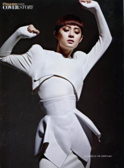 Winter White : Mugler F/W 12/13 in Madame Figaro China