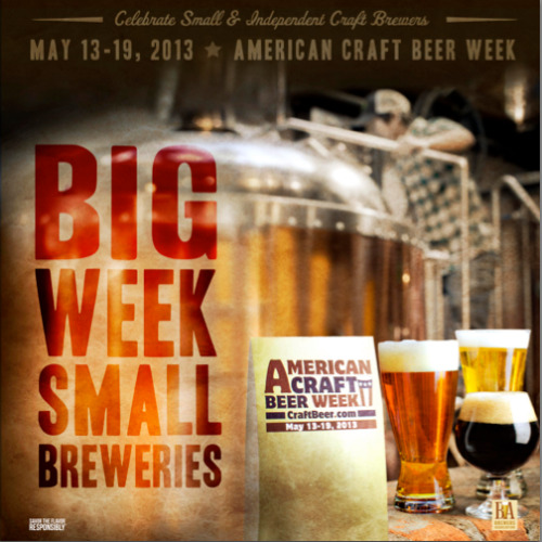 Big week for small breweries: American Craft Beer Week – May 13-19, 2013