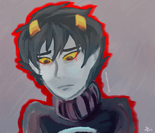 #sad karkat #inspired by yummy's art