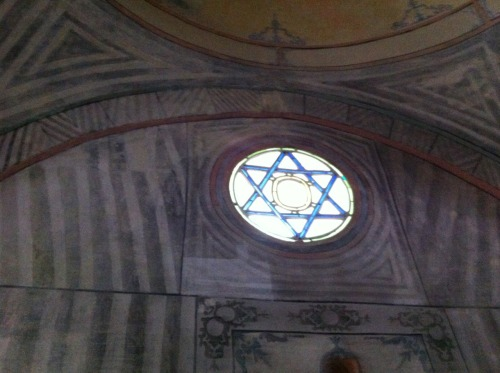 David's star in the mosque at Crimean Tatar Khanate's palace in Bakhchesarai, Ukraine