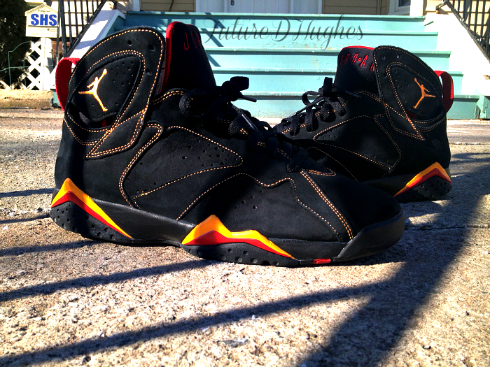 justjordans:  AJ VII Citrus http://dorkster3000.tumblr.com/ twitter - @iamdorkster Submitted to Just Jordans: What did you wear today?