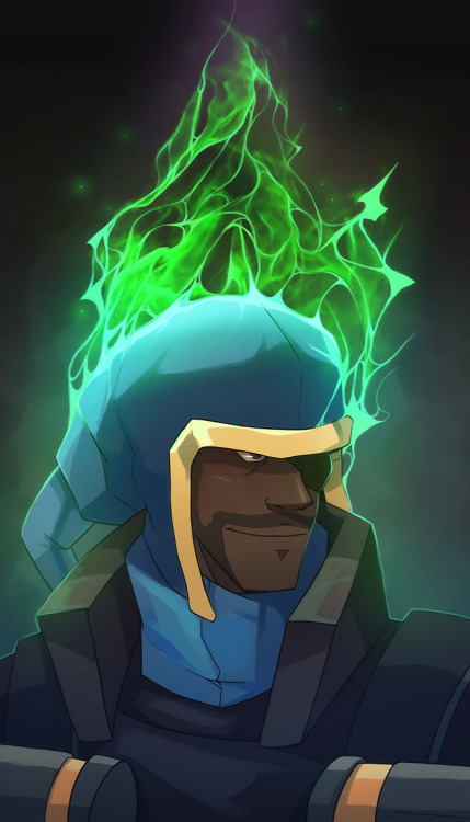 Tf2 Demoman Green Fire