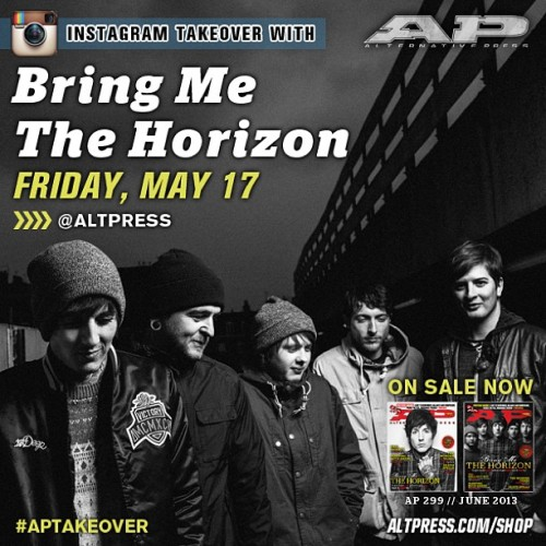 Tomorrow, our Instagram goes international!  @bmthofficial are taking over all the way from Denmark! #APtakeover