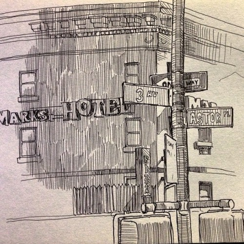 #sketch from 5/4/10 NYC - I love sketching big cities #illustration #richleedraws #newyork