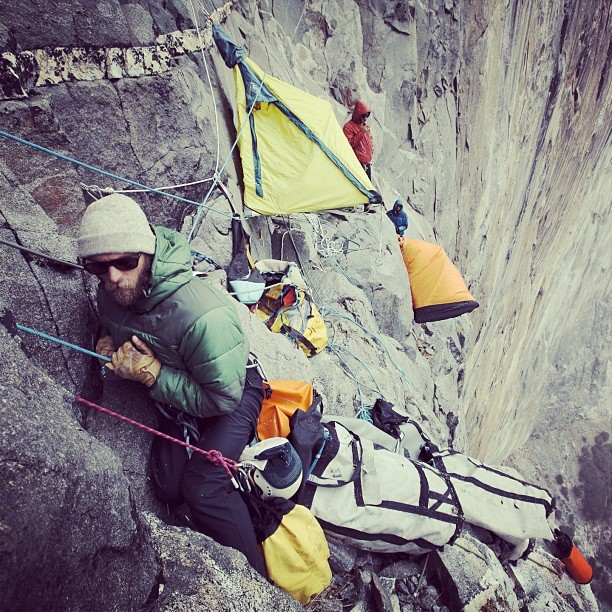 patagonia:  @thetorpedopeople during the filming of #180south on El Capitan, in Yosemite. Photo by #jeffjohnson