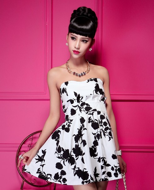 Wildly popular fashion strapless dress B19008
