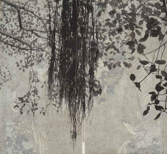 iamjapanese:  Beth Ganz(American) Branches and Boughs I    2009 Archival digital pigment print on kozo shi, vintage wallpaper