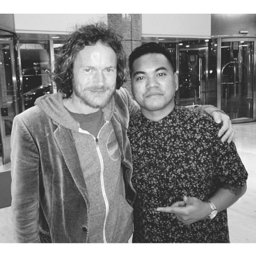 Had the pleasure of sharing the same stage with Mr. Damien Rice this weekend.