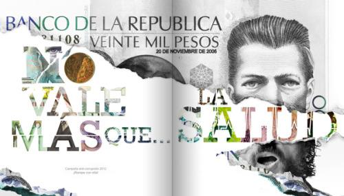 No vale más que la salud Campaña contra la corrupcióndiseñada por Pedro Javier Arbeláez y Sarah Jaramillo Pedro Javier Arbelaez en Behance.net,http://www.behance.net/pedrojavierarbelaez