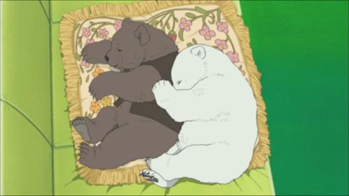 mine anime screencap Grizzly shirokuma cafe Polar Bear Cafe Shirokuma ep25 anime screencap their friendship is so cute i stg these bears
