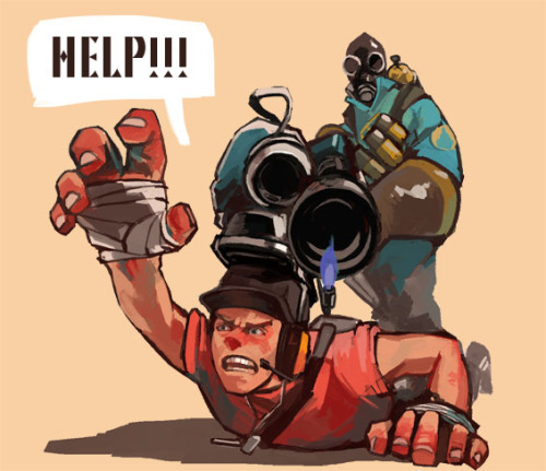 jetenter:  I started play teamfortress2!This is my first FPS.I enjoy to death.Yeah, it's fun:) I love Scout, Pyro, and Medic.
