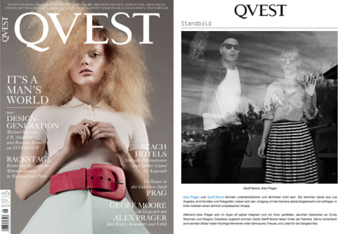 Qvest mag 16 page spread/conversation with me and Alex Prager out now. Nice !