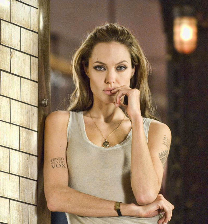 "Angelina Jolie en ""Wanted"", 2008"