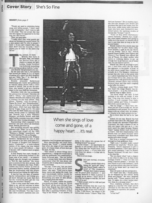 "NSN FILES: Old article, Daily News- ""She's so fine"" 5 July 1998"