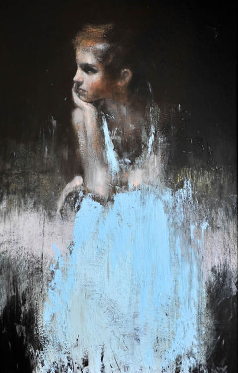 Artist - Mark Demsteader Emma Watson This oil painting blows my mind. Love.