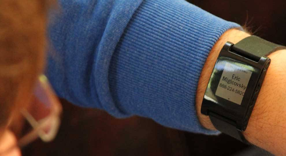 Pebble debuts. Exciting news from CES today…  Pebble watch creator Eric Migicovsky took the stage to thank his 68,929 Kickstarter backers and announce a ship date of January 23rd. The team can produce and ship 15,000 Pebble watches per week, which means that backers should receive their watches in the next 6-8 weeks. The stream from CES is live right now.