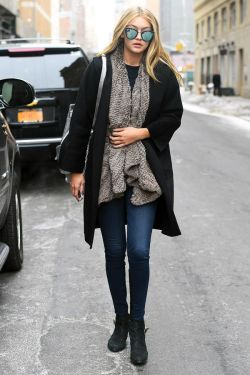 fashion style street style posted outfit outfits high fashion ootd Gigi Hadid winter outfits gigi hadid style gigi hadad gigi hadid street style