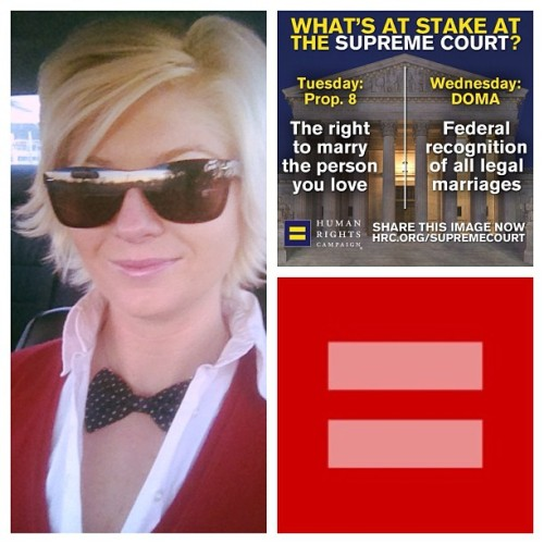 Wearing #red for #marriageequality overturn #doma #prop8 #lgbt #standwithlove #rightsideofhistory