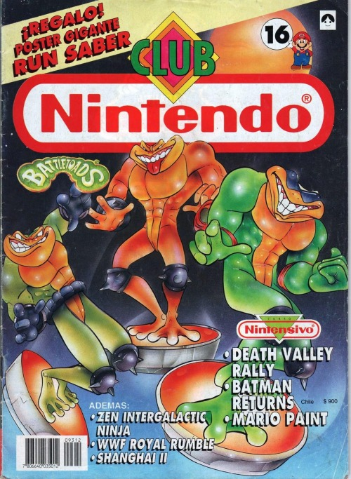 Club Nintendo magazine Battletoads cover.