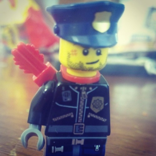 Wounded in the line of duty. #lego