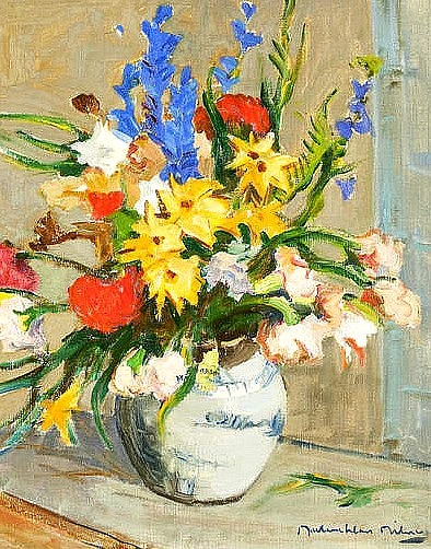 John MacLauchlan Milne Still Life with Gladioli 20th century