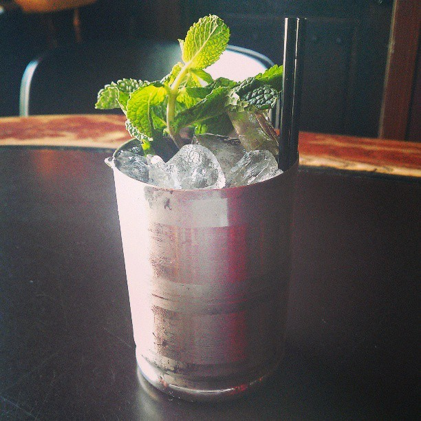 Lemme make you a mint julep! @burnhearts  (at Burnhearts)
