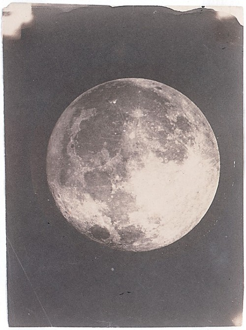 centuriespast:  The Moon John Adams Whipple (American, 1822–1891) Date: 1857–60 This study, made with his partner James Black and copied from a daguerreotype, would seem to illustrate the astronomical maxim: the more clearly one can see an object in space, the more beautiful it looks. The Metroptolitan Museum of Art