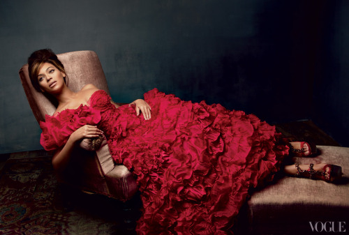 oscarprgirl:  queen b. that's all. from Vogue.