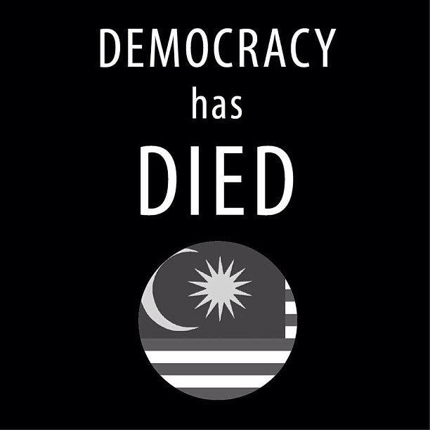 Democracy has died.
