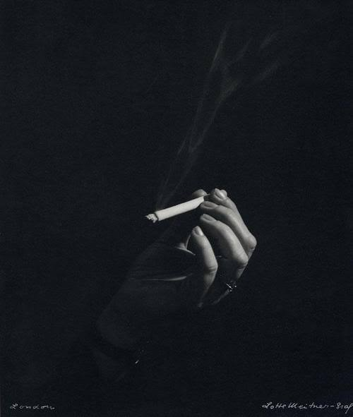 blue-voids:  Lotte Meitner-Graf - Woman's Hand with Cigarrete, 1960