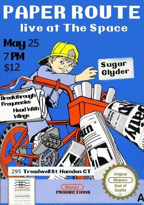 Paper Route is coming to The Space on May 25! Sugar Glyder, Breakthrough Frequencies, and Head With Wings will be opening, so you don't want to miss this!  Tickets 'n' Info